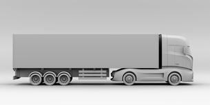 大型電動トラックのクレイレンダリングイメージの写真素材 [FYI04614535]