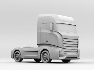 大型電動トラックのクレイレンダリングイメージの写真素材 [FYI04614539]