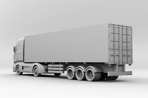 大型電動トラックのクレイレンダリングイメージの写真素材 [FYI04614543]