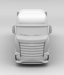 大型電動トラックのクレイレンダリングイメージの写真素材 [FYI04614548]