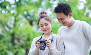 日本人夫婦の写真素材 [FYI04617932]
