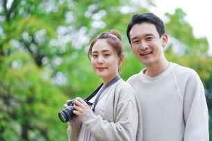日本人夫婦の写真素材 [FYI04617941]