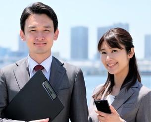 ビジネスマンとビジネスウーマンの写真素材 [FYI04618134]