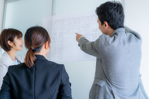 ビジネスマンとビジネスウーマンの写真素材 [FYI04618638]