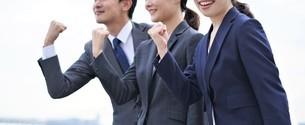 ビジネスマンとビジネスウーマンの写真素材 [FYI04618743]