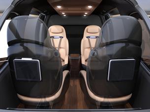 空飛ぶタクシーのインテリアイメージの写真素材 [FYI04619952]