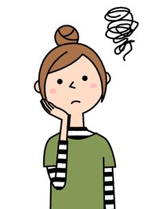 困る若い女性 ママのイラスト素材 [FYI04620080]