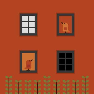 アパートと窓のイラスト素材 [FYI04620267]