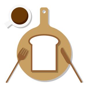トーストとコーヒーのイラスト素材 [FYI04620578]
