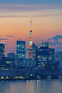 東京タワーライトアップ夏バージョンの写真素材 [FYI04621278]
