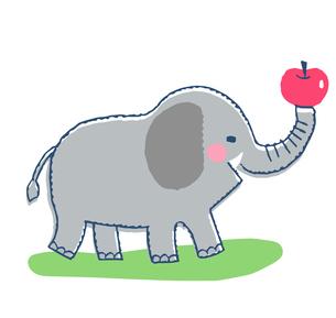 象とりんごのイラスト素材 [FYI04621348]