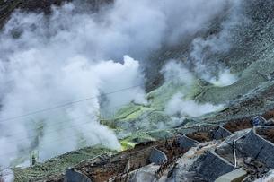 大涌谷の噴煙の写真素材 [FYI04621713]