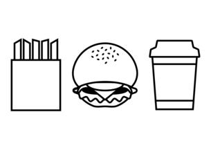 ハンバーガーセットのイラスト素材 [FYI04621750]