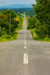 富良野のジェットコースターの路の写真素材 [FYI04622467]