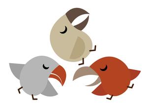 鳥のお昼寝のイラスト素材 [FYI04622608]