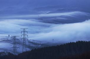 流雲の情景、高ボッチ高原よりの写真素材 [FYI04622938]