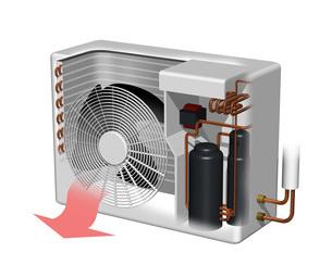 エアコン室外機構造図イラストのイラスト素材 [FYI04623539]