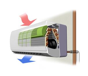 エアコン室内機構造図イラストのイラスト素材 [FYI04623540]