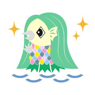 アマビエ 日本の妖怪 キャラクター イラストのイラスト素材 [FYI04623548]