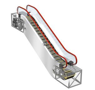 エスカレーターの内部構造、仕組みイラストのイラスト素材 [FYI04623562]