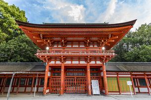 下鴨神社 楼門と剣の間の写真素材 [FYI04623707]