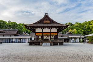 下鴨神社 南側から中門へ向け眺める舞殿の写真素材 [FYI04623715]