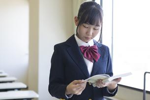 勉強する女子高生の写真素材 [FYI04624255]