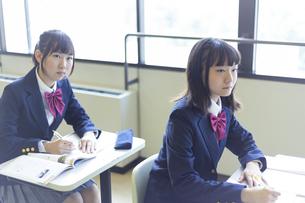 勉強する女子高生の写真素材 [FYI04624279]