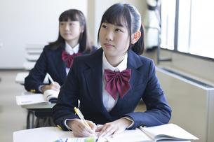 勉強する女子高生の写真素材 [FYI04624287]