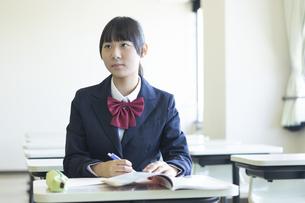 勉強する女子高生の写真素材 [FYI04624297]