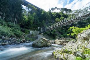 上野原の聖武連橋の写真素材 [FYI04624325]