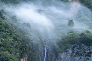 駒草平展望台から見る霧の不帰の滝の写真素材 [FYI04624955]