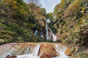草津 嫗仙の滝の写真素材 [FYI04625001]