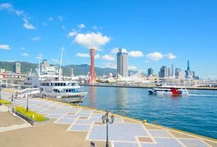 関西の風景 神戸港と街並みの写真素材 [FYI04625460]
