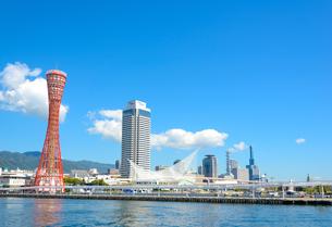 関西の風景 神戸港と街並みの写真素材 [FYI04625461]