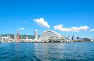 関西の風景 神戸港と街並みの写真素材 [FYI04625462]