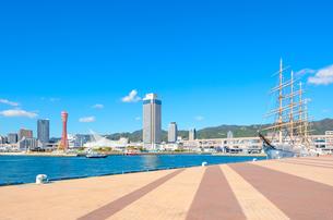 関西の風景 神戸港と街並みの写真素材 [FYI04625464]