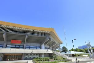 日本武道館と新設された中道場の写真素材 [FYI04625775]