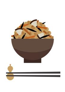 炊き込み御飯のイラスト素材 [FYI04625899]