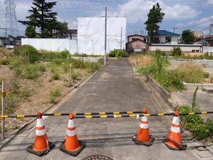 東京都 住宅街の再開発工事の写真素材 [FYI04625918]