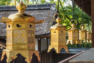 上賀茂神社 中門左の西局の写真素材 [FYI04625955]