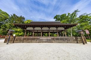 上賀茂神社 外幣殿西正面の写真素材 [FYI04626005]