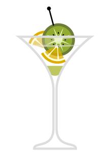 キウイとレモンのカクテルのイラスト素材 [FYI04626202]