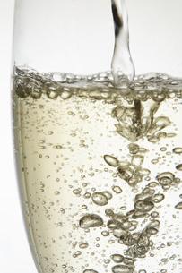 シャンパングラスの泡の写真素材 [FYI04626325]