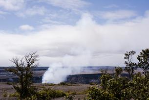 ハワイ島の火山口の写真素材 [FYI04626505]