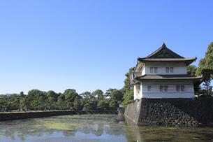 皇居の巽櫓の写真素材 [FYI04626630]