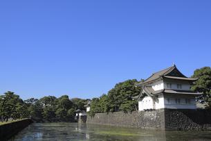 皇居の巽櫓の写真素材 [FYI04626633]