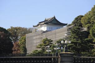 皇居の二重橋と伏見櫓の写真素材 [FYI04626652]