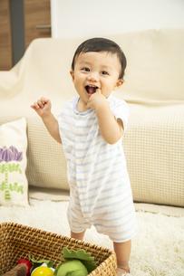 リビングで遊ぶ赤ちゃんの写真素材 [FYI04626980]