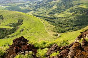 阿蘇杵島岳頂上からの風景の写真素材 [FYI04627165]